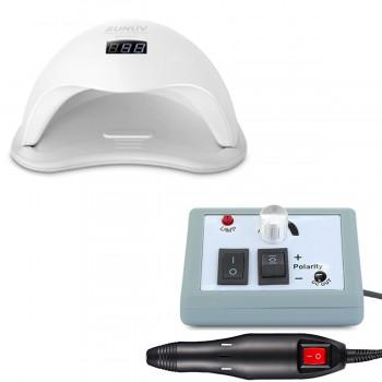 Набор UV/LED лампа SUN 5 48 Вт + Фрезер для маникюра Lina Mercedes 20000 об/мин купить по лучшей цене в Украине