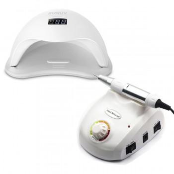 Набор UV/LED лампа SUN 5 48 Вт + Фрезер для маникюра Nail Master 30000 об/мин