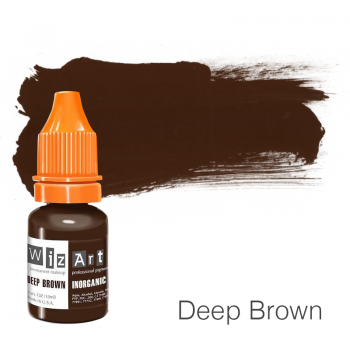 Пигмент для татуажа WizArt Inorganic Deep Brown 10 мл