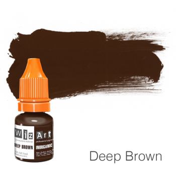 Пигмент для татуажа WizArt Inorganic Deep Brown 5 мл