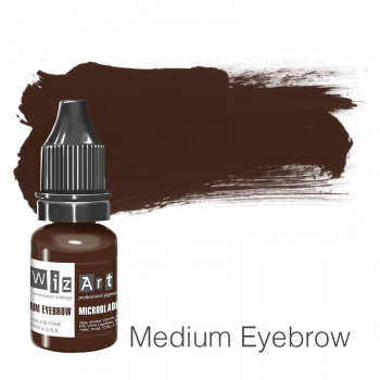 Пигмент для микроблейдинга WizArt Microblading Medium Eyebrow 10 мл
