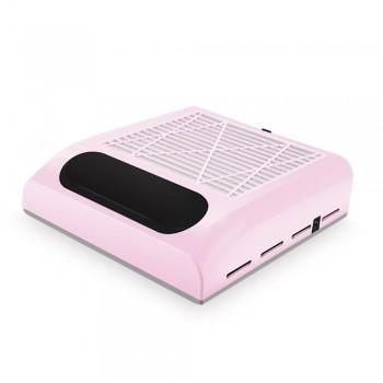 Вытяжка для маникюра SIMEI 858-8 с НЕРА-фильтром (Розовый)