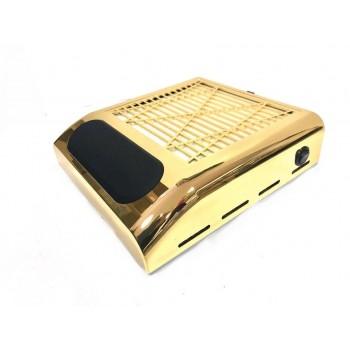 Вытяжка для маникюра SIMEI 858-8 с НЕРА-фильтром (Золото)