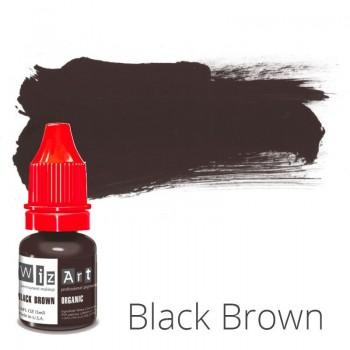 Пигмент для татуажа WizArt Organic Black Brown 5 мл купить по лучшей цене в Украине