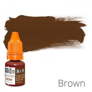 Пигмент для татуажа WizArt Strong Brown 5 мл купить по лучшей цене в Украине
