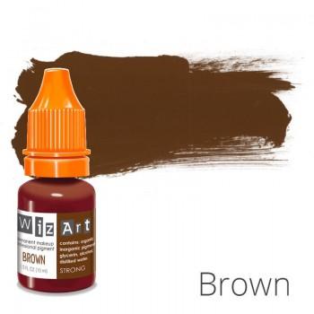 Пигмент для татуажа WizArt Strong Brown 10 мл купить по лучшей цене в Украине