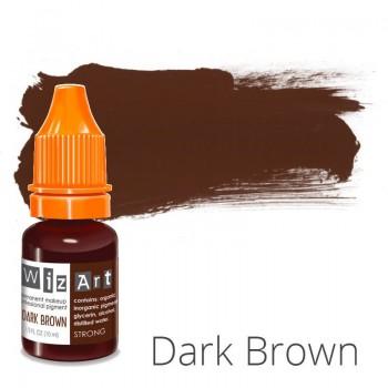 Пигмент для татуажа WizArt Strong Dark Brown 10 мл купить по лучшей цене в Украине